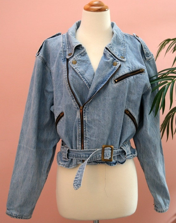 Faded DENIM Vintage Crop Jacket