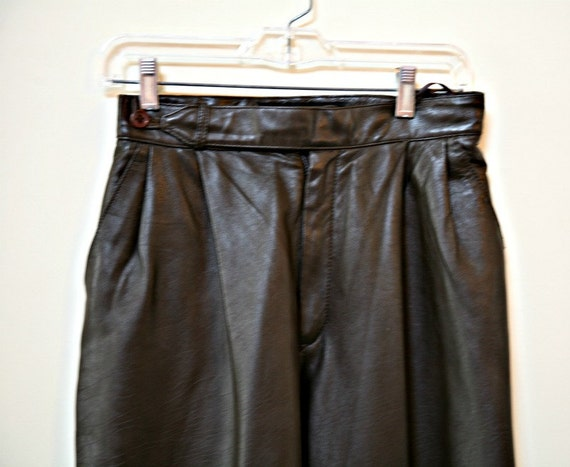 Ladies Leather Pants,Chocolate Brown Fully Lined Size 10, Soft Leather