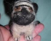 Pug Needle felted puppy dog