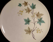 Vintage MidCentury Modern Carefree by Syracuse China Woodbine Made in USA 10 inch Dinner Plate