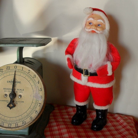 vintage santa claus doll with plastic face