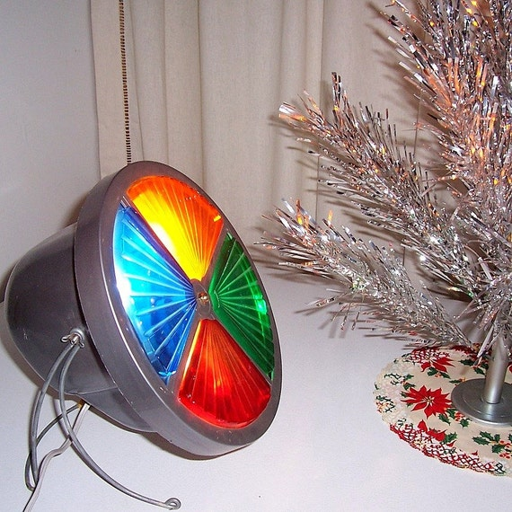 Vintage Color Wheel Light For Aluminum Christmas Tree