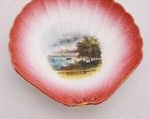 Vintage Pink Souvenir Shell Dish