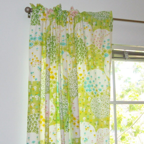 Set of three cute curtains for girls room or repurposing