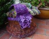 Knitting Pattern PDF Pumpkin Felted Bag