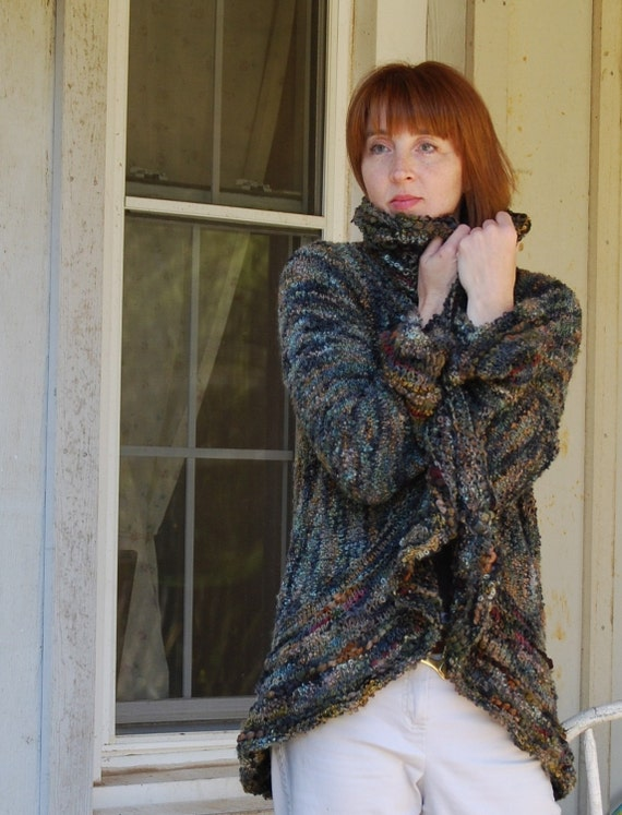 "Knitting Pattern PDF Jacket  ""Wavelength"""