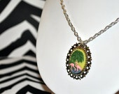 Fabulous Flamingo 18x25 Cameo Necklace