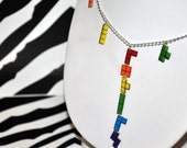 Rainbow Tetris Extravaganza Necklace