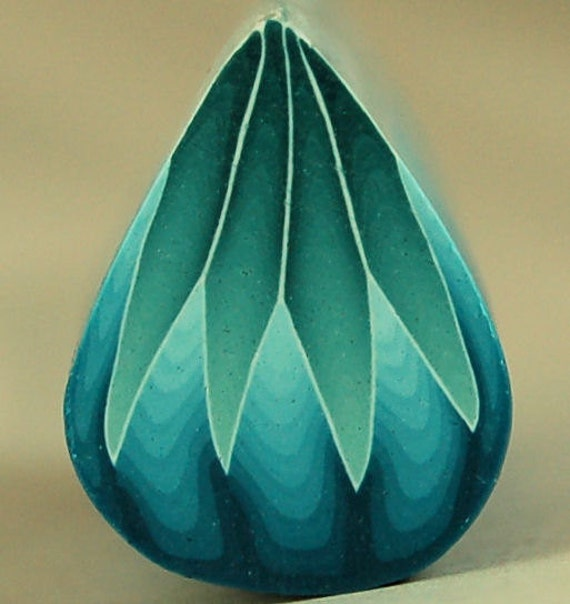 HALF PRICE SALE Blue Polymer Clay Petal Cane