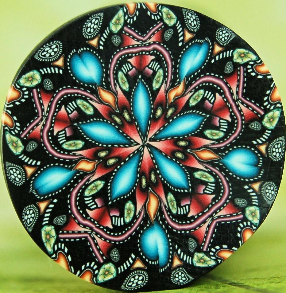 Kaleidoscope Ca: Kaleidoscope Polymer Clay Cane 'Starflower