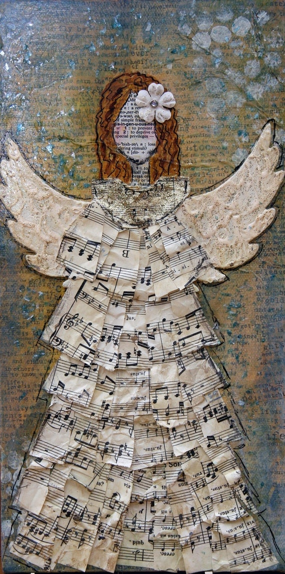 Mixed Media Original Art Angel