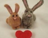 Needle Felted Rabbit Couple