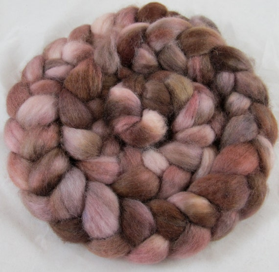Superwash BFL  Hand Painted Wool Roving - Vintage