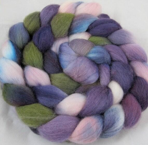 Merino Handpainted  Wool Top - Hyacinth