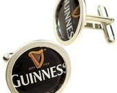 Guinness Cuff Links of Bottle Cap / Sterling Silver cuff