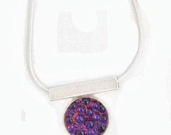 Caviar Roe Glass Pendant in Purple