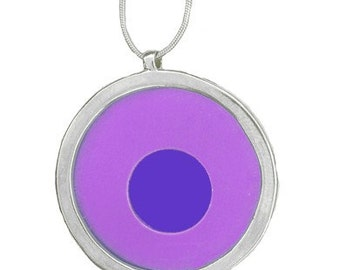 Large Two tone Purple/Blue pendant