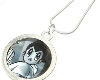 Astro Boy 80's retro pin made into necklace