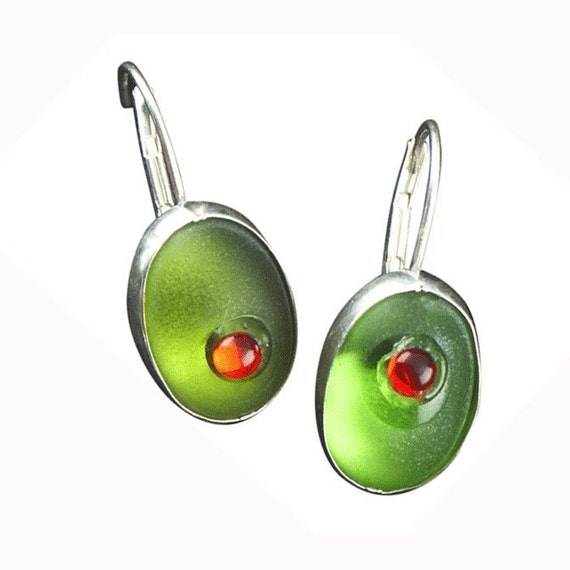 cocktail olive earrings