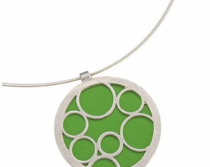 Large Round Green Bubble Pendant