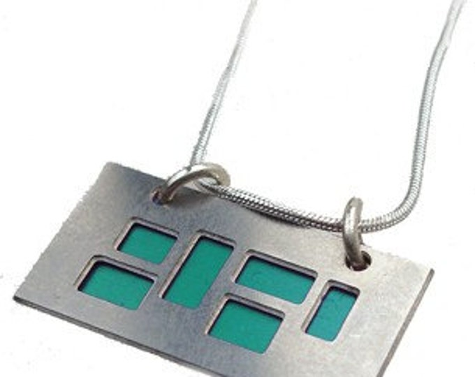 pendant with AQUA cutouts