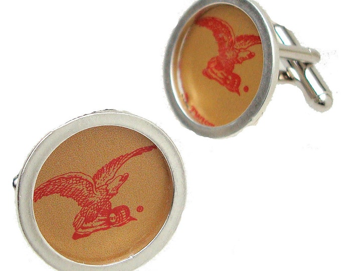 Yuengling Bottle Cap\/ Sterling Silver cuff links