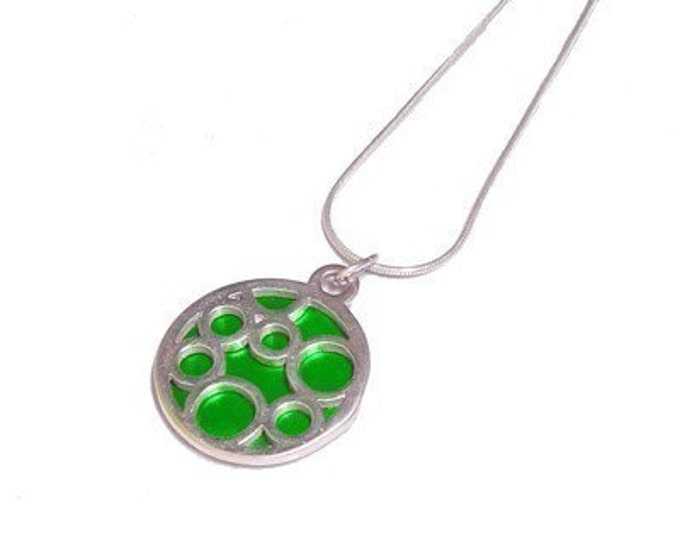 Small Round Green Bubble pendant