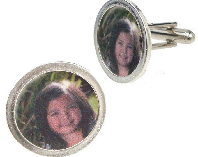 Father's Day Gift custom image cufflinks of the little one's in your life