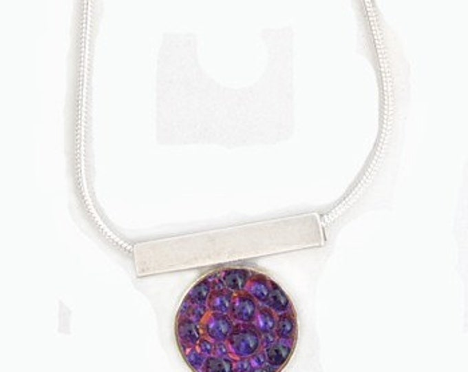 Caviar Roe Glass Pendant in Purple