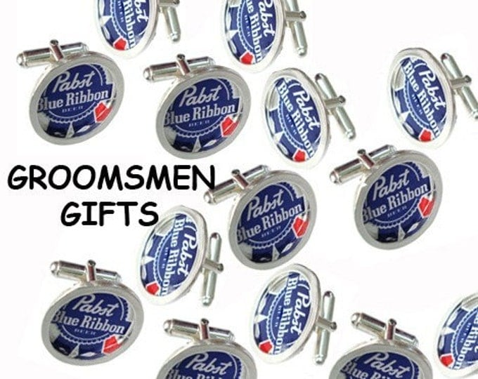 Bottle Cap/ Sterling Silver cuff links groomsmen gifts