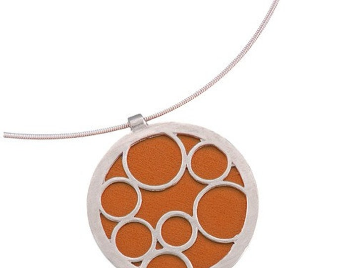 Large Round Orange Bubble Pendant
