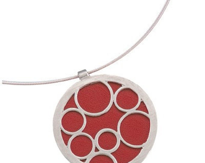 Large Round Red Bubble Pendant