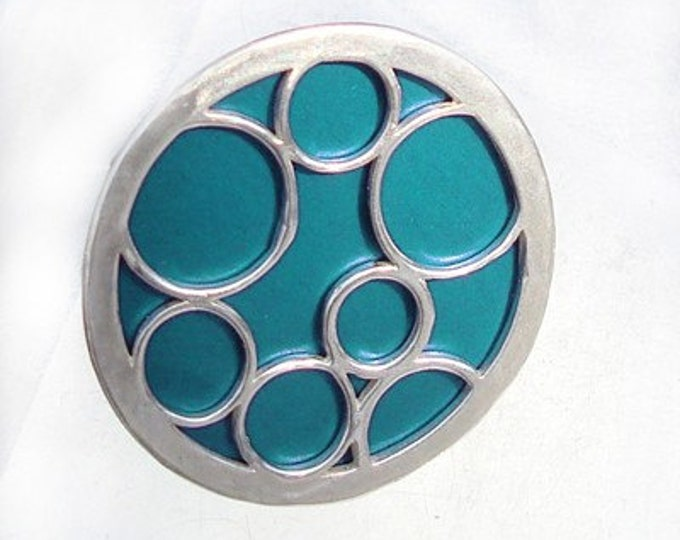 valentine's day gifts  Round Ring with Bubbles in aqua