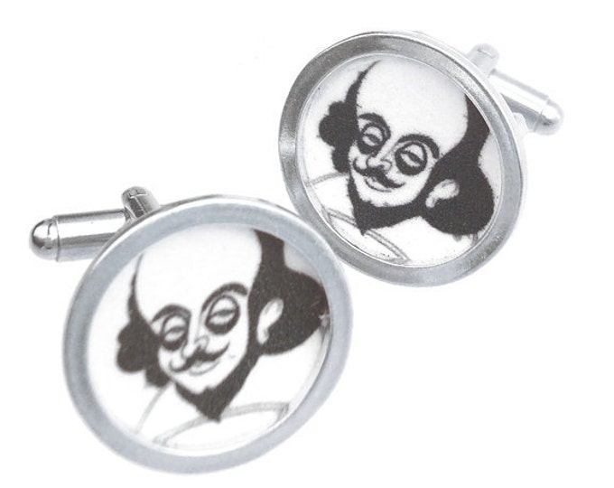 William Shakespeare/Custom image cuff links