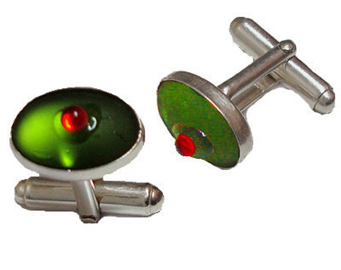 cocktail olive cufflinks