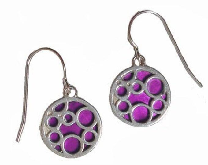 Small round bubble Fuchsia earrings