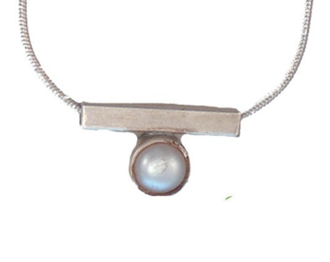 Cream Freshwater Pearl/Sterling Silver Pendant