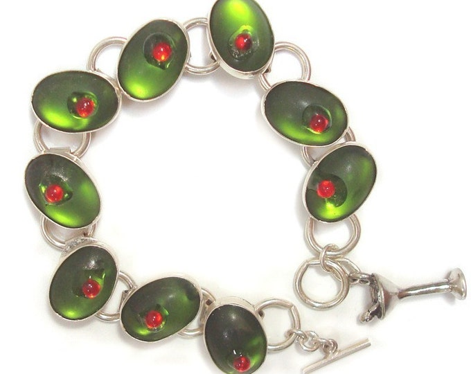 cocktail olives bracelet
