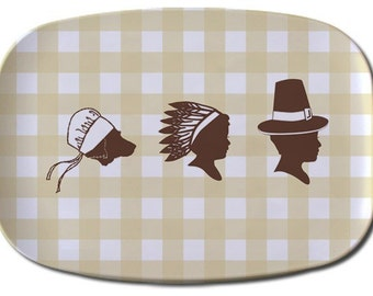 Custom Silhouette Thanksgiving Platter made from your photo
