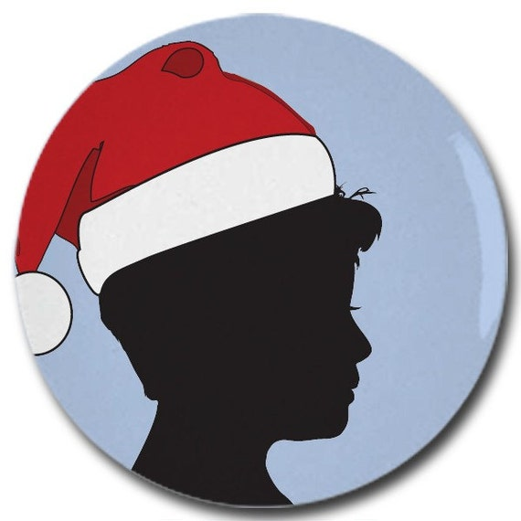 Custom Christmas Silhouette Plate made from your photo by Simply Silhouettes