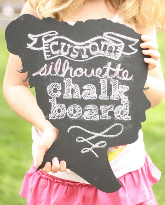 Custom Chalkboard Silhouette - made from your photo by Simply Silhouettes