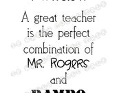 Perfect Quote for your Favorite TEACHER, vinyl wall art