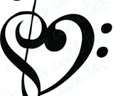 i heart MUSIC vinyl wall decal