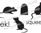 Halloween Rats vinyl decal wall words Free Shipping