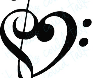 i heart MUSIC vinyl wall decal