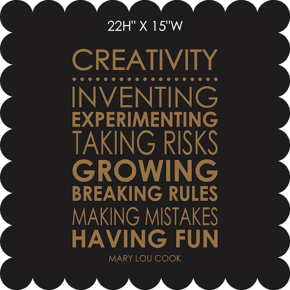 CREATIVITY quote - vinyl lettering - wall decal