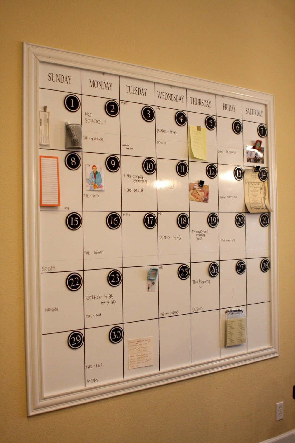 LARGE Dry Erase Magnetic Calendar by melanieastewart on Etsy