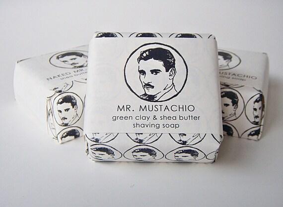 Naked Mr. Mustachio Shea Butter Shaving Soap