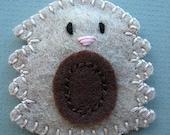 Juno the Hedgehog Felt Hair Clip