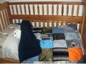 super cute blue crib quilt